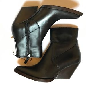 NWT Zara Woman Cowboy Style Ankle Boots